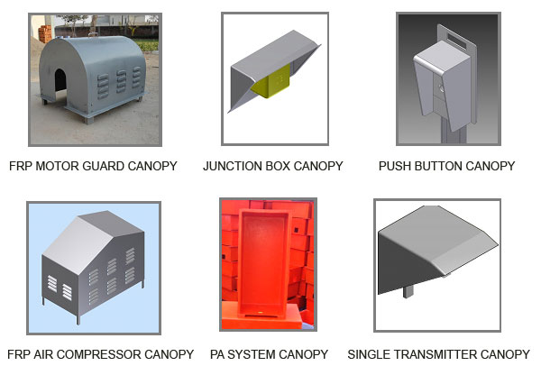 FRP GRP Canopies Manufacturers for PA System, Motor Guard